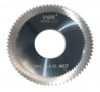 Фреза RAISE 0020A C.C. CARBIDE Ø70*1.3*Ø25.4*72T